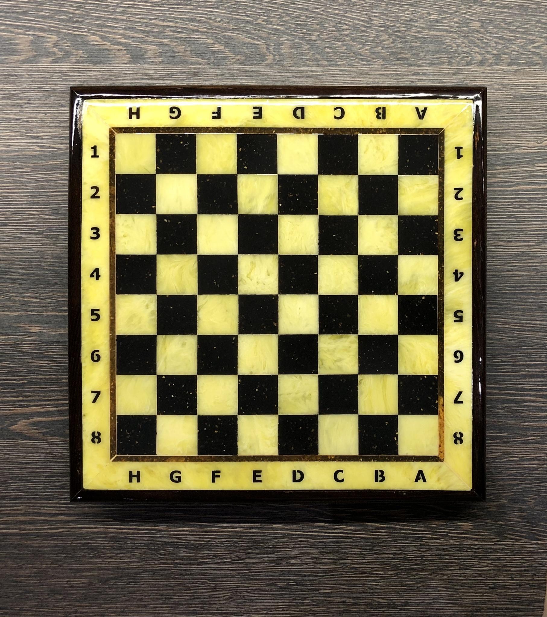 Шахматная доска с рамкой 35*35 см (дуб) 5 шт.