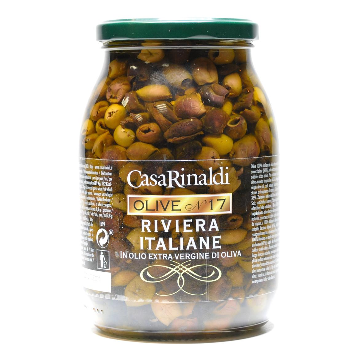 Оливки Casa Rinaldi Ривьера Таджаске консервированные без косточки 900г