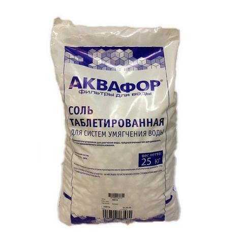 Соль таблетированная для систем умягчения воды Аквафор - 25 кг
