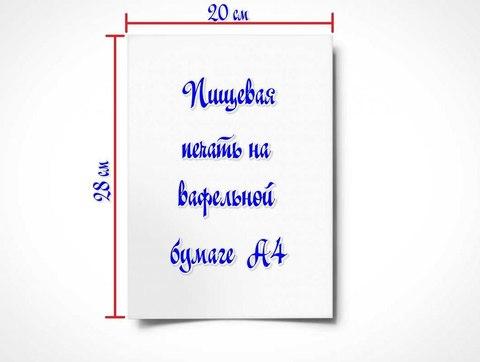 Пищевая, съедобная печать на вафельной бумаге без редакции изображения