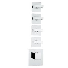 Термостат с выделенными элементами управления на 5 потребителей Bossini Rectangular 5 Outlets Z033208.030 фото