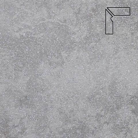 Stroeher - Keraplatte Roccia 840 grigio длина стороны угла 290 артикул 9117 - Плинтус клинкерной ступени левый