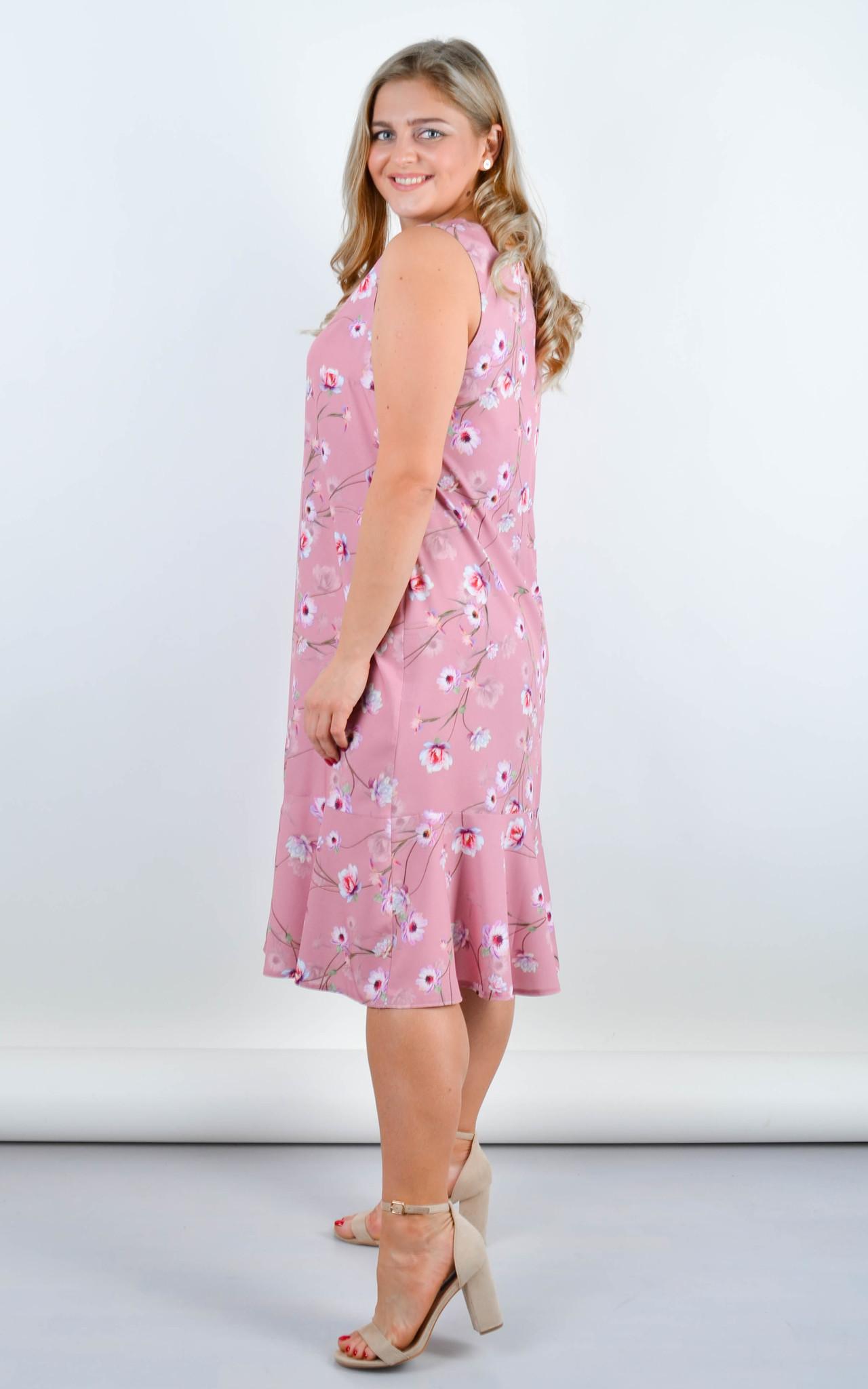 Нежное платье Ванила (пудра)