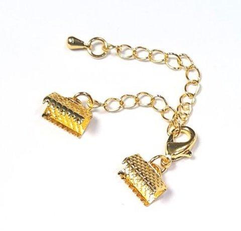 Замок для бус с зажимами концов 10 мм цвет золото