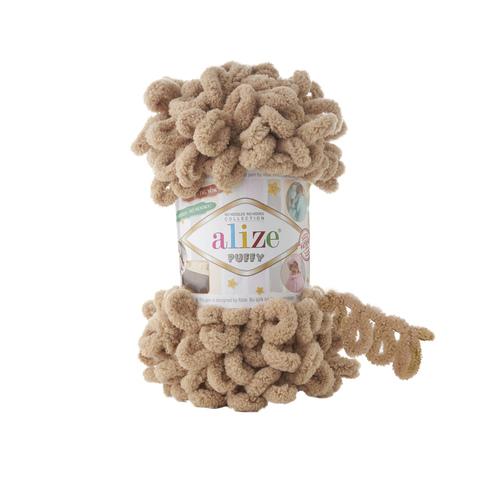Купить Пряжа Alize Puffy Код цвета 262 Коричнево-бежевый | Интернет-магазин пряжи «Пряха»