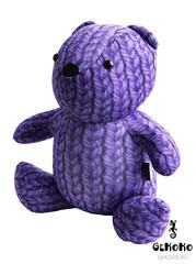 Подушка-игрушка антистресс «Вязаный Мишка», фиолетовый 3