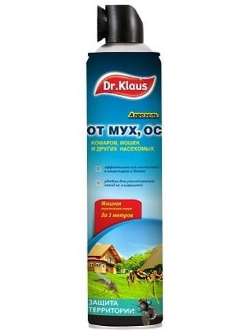 Аэрозоль Dr. Klaus от Мух, Ос и др. летающих насекомых 600 мл