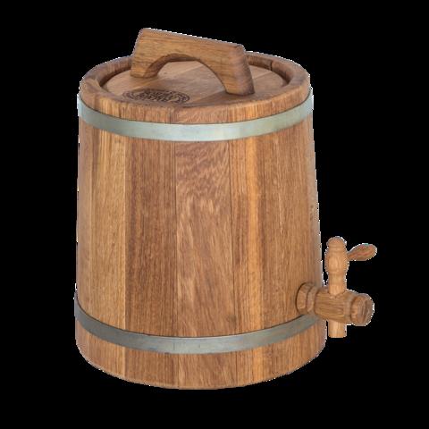 Дубовая бочка конусная для алкоголя, 3 литра