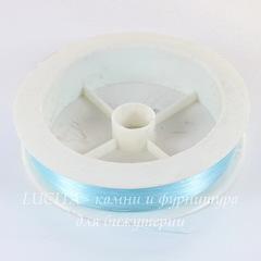 Леска для бисера и бусин, 0,3 мм, цвет - бледно-голубой, примерно 100 м