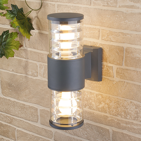 Уличный настенный светильник 1407 TECHNO серый