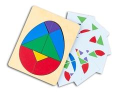Головоломка Колумбово Яйцо с карточками, RadugaKids