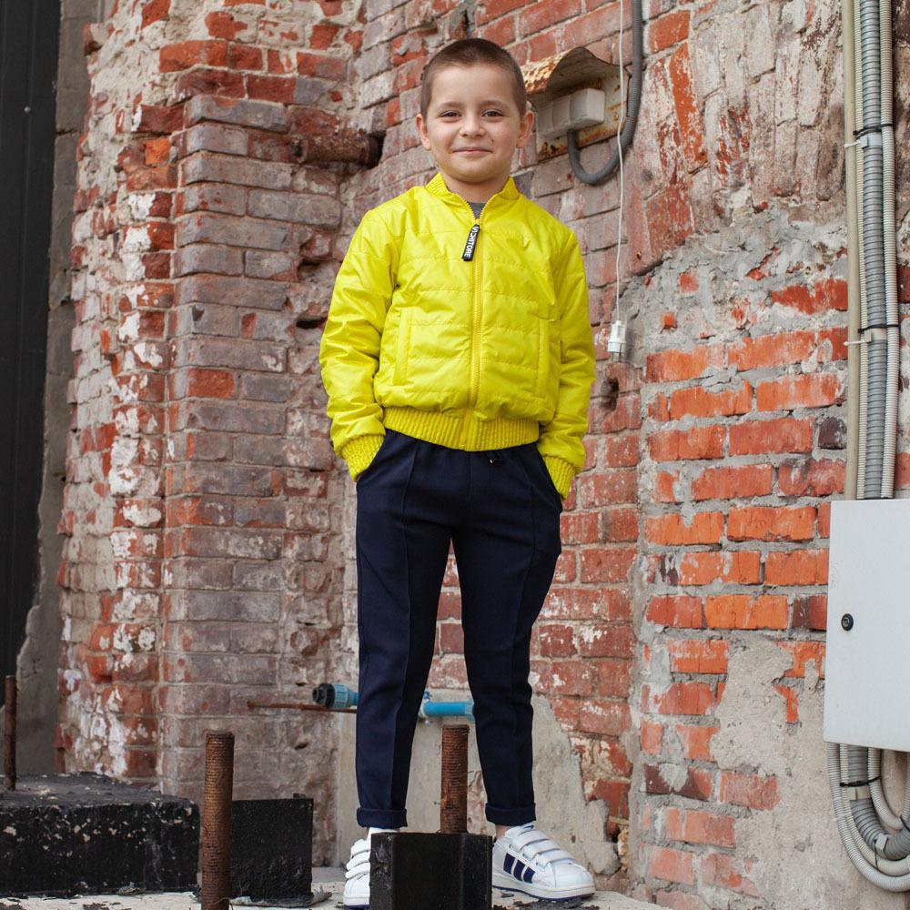 Детский бомбер желтый из водоотталкивающей плащевки