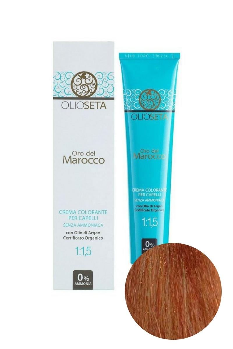 Крем-краска для волос 7.4 Блондин медный Oro del Marocco, Barex