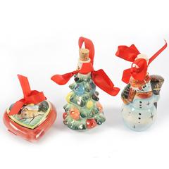 Подарочный набор из 3-х мини-штофов в подарочной коробке