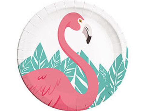 Тарелка Фламинго 23см 8шт