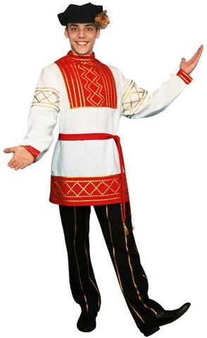 Русский народный костюм Олег красный