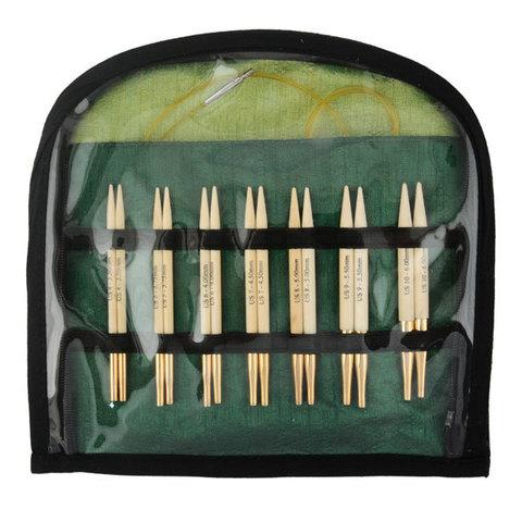 KnitPro Bamboo Набор съемных спиц под тросик Special