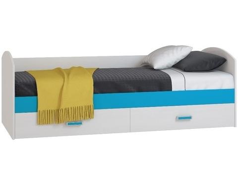Кровать БИРЮЗА Дв24_80 с ящиками