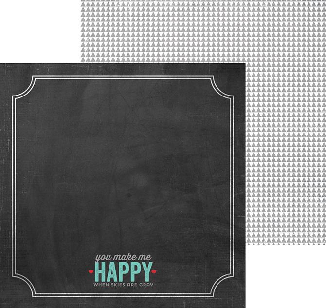 Лист двухсторонней бумаги - Happy days