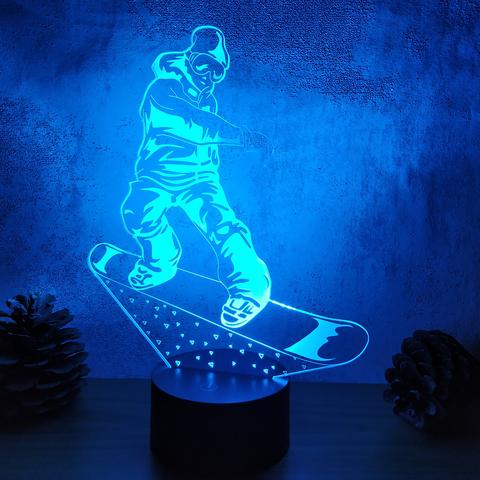Ночник Сноубордист
