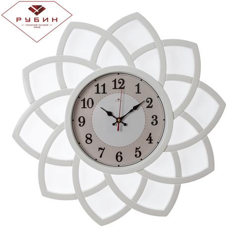 5046-100 (5) Часы настенные круг с лепестками d=49,5см, корпус белый