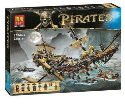 Конструктор Пираты Карибского моря BELA 10680 Безмолвная Мэри,2324д