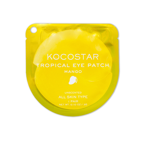 KOCOSTAR | Гидрогелевые патчи для глаз Тропические фрукты (2 патча/1 пара) (Манго) / Tropical eye patch Mango, (3 г)