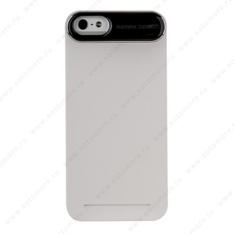 Накладка REMAX для iPhone SE/ 5s/ 5C/ 5 с силиконовой наклейкой белая