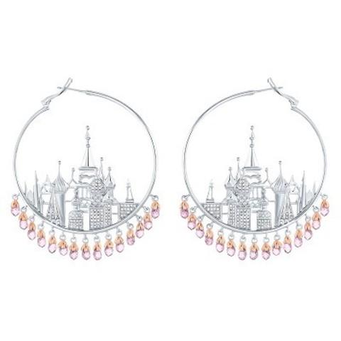4749 Серьги St Basil Cathedral  из серебра с розовыми подвесками