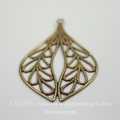 Винтажный декоративный элемент - подвеска филигранная