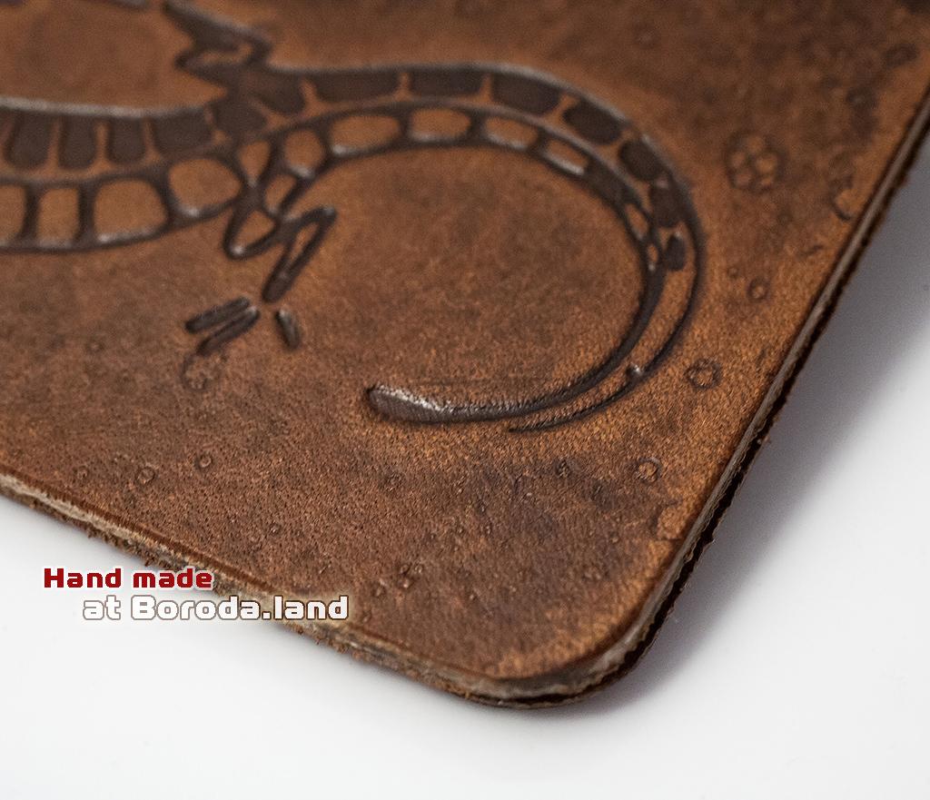 BY10-03-05 Кожаный зажим Саламандра фото 02