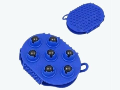 Массажёр варежка ( силиконовая накладка на руку, с одной стороны дополнена крутящимися металлическими магнитными шариками) :(1257-2М):