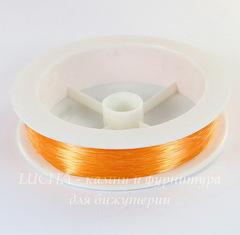 Леска для бисера и бусин, 0,3 мм, цвет - оранжевый, примерно 100 м