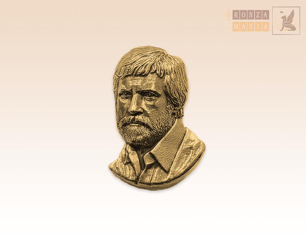 значок Высоцкий Владимир Семенович с бородой