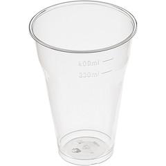 Стакан одноразовый Стандарт пластиковый полупрозрачный 330 мл 25 штук в упаковке