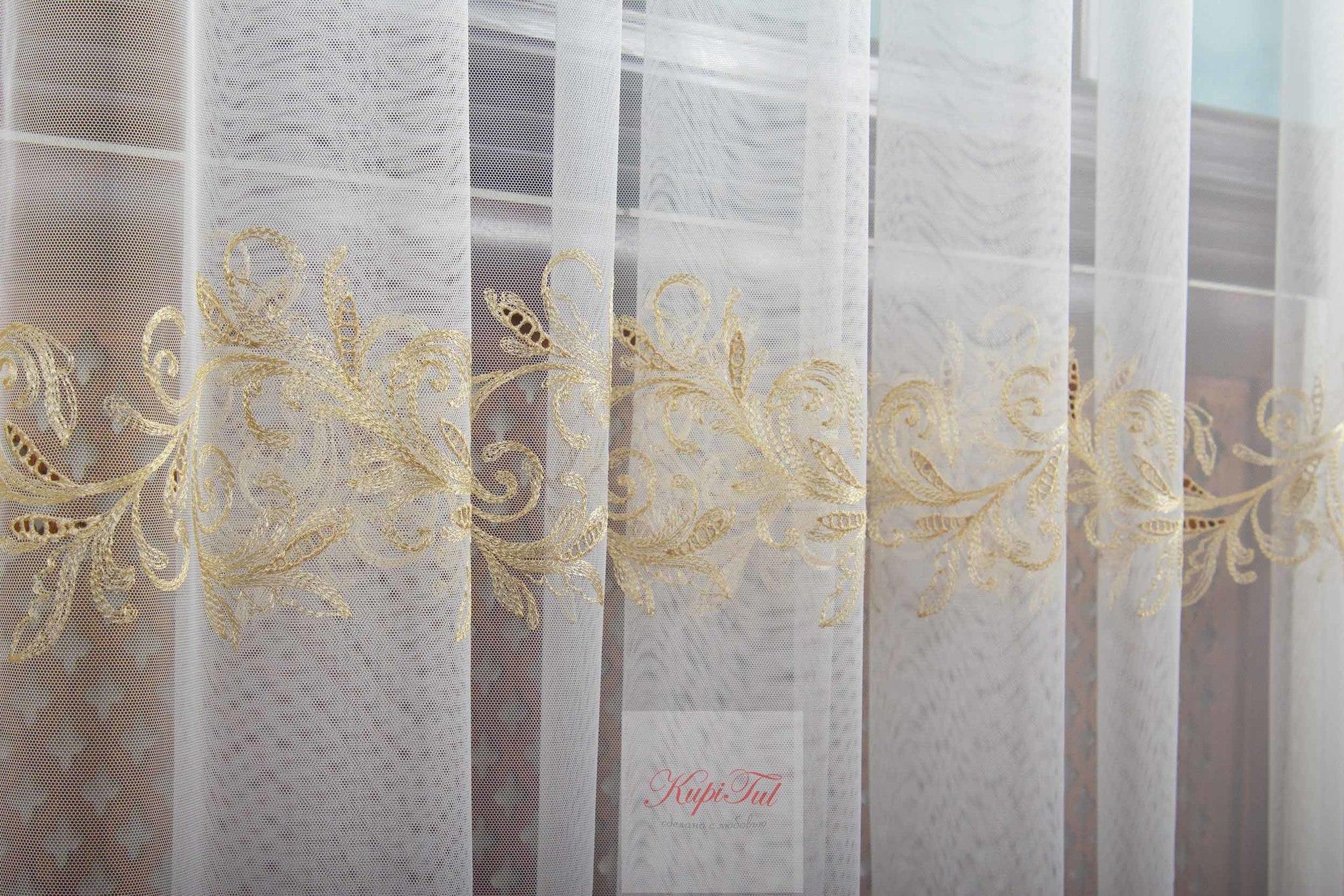 Тюль Belle французская сетка (золото)
