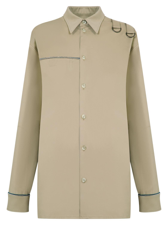 Рубашка мужская с контрастным кантом