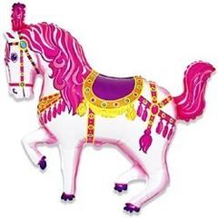 F Мини-фигура Цирковая лошадь (фуксия), 14''/36 см, 5 шт.