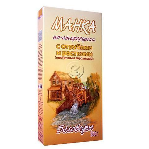 Каша Манка по-старорусски с отрубями и ростками, 500 гр. (Беловодье)