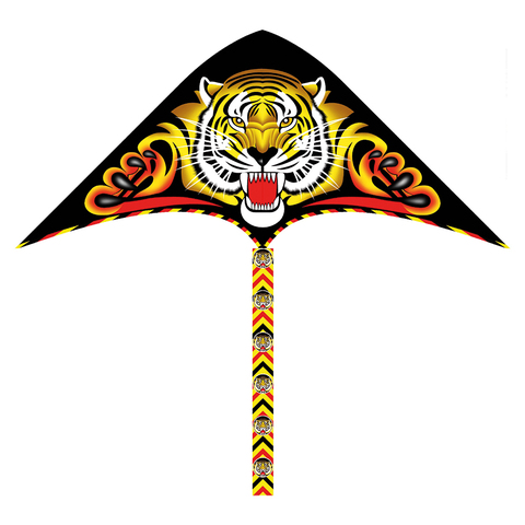 Воздушный змей 130х62 см, 30 метров (3 вида: Лев, Тигр, Орел)