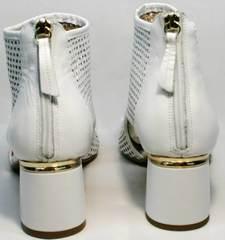 Летние ботильоны на каблуке 5 см Magnolya 3503 56-3 SummerWhite