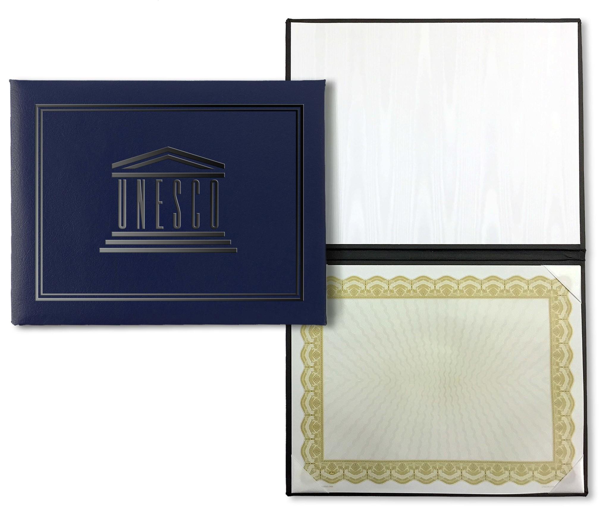 Папка обложка для сертификата/диплома с логотипом