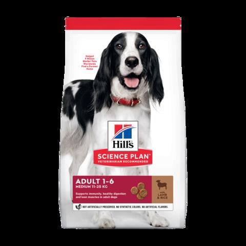 Hill's Science Plan Advanced Fitness Base Сухой корм для взрослых собак средних пород для поддержания иммунитета с ягненком и рисом