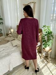 Даяна. Практичное повседневное платье больших размеров. Бордо