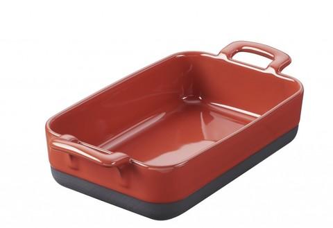 Прямоугольное фарфоровое блюдо для запекания красное, артикул 635285, серия Eclipse