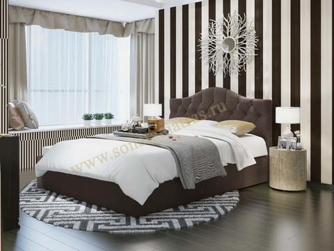 Кровать Амстердам с мягким изголовьем без рамки