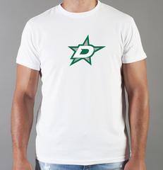Футболка с принтом НХЛ Даллас Старз (NHL Dallas Stars) белая 003