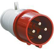 Вилка 014 3Р+РЕ 16А 380В IP44 TDM