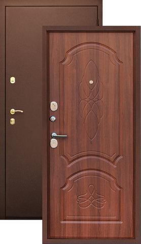 Дверь входная Z-6 стальная, орех, 2 замка, фабрика Арсенал