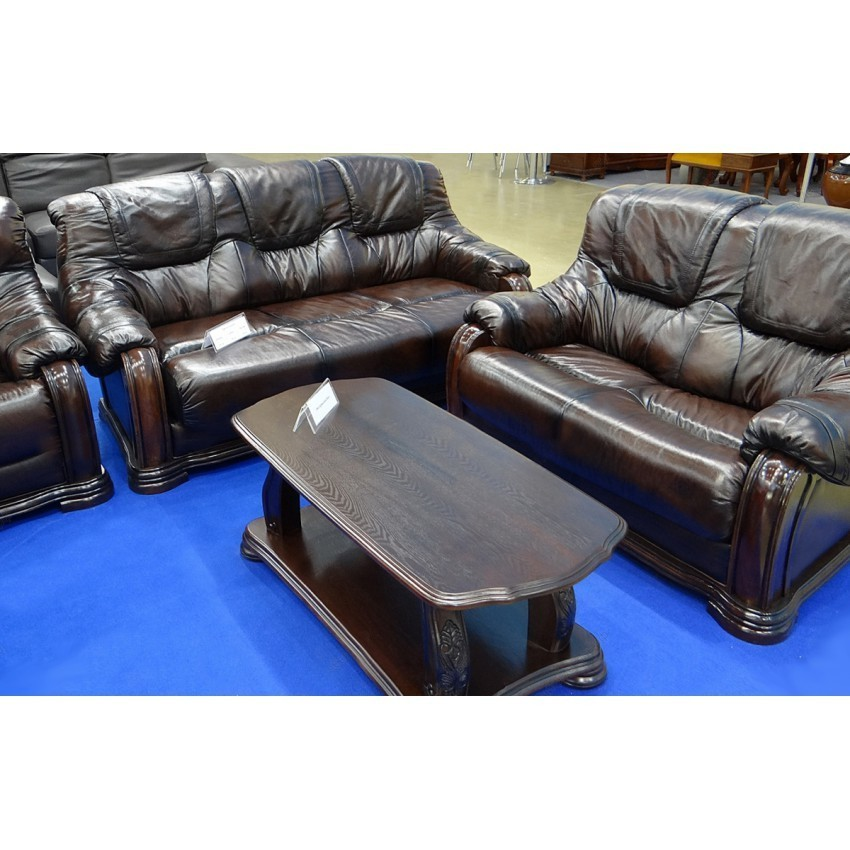 Стол журнальный ESF Alexis орех большой и комплект мягкой мебели Castello